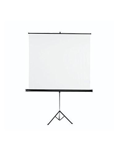 Ecran sur Pied 160 x 160 cm Toile Blanc Mat