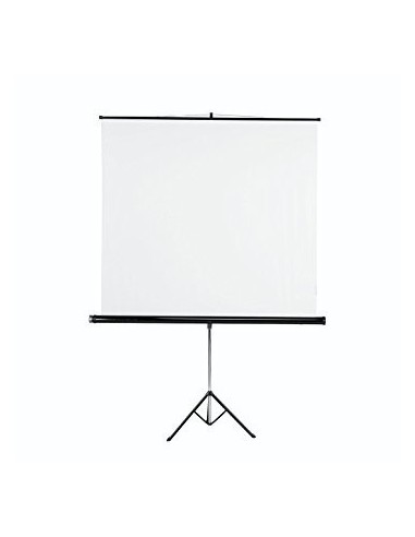 Ecran sur Pied 200 x 200 cm Toile Blanc Mat